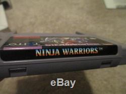 Ninja Warriors (super Nintendo Snes) Complète Cib Rare