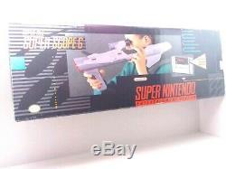 Nintendo Snes Super Scope 6 Portée Complète Dans, Jeu, Manuel, Récepteur Et Boîte