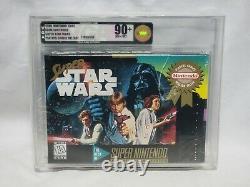 Nouveau Jeu Super Star Wars Super Nintendo Vga 90+ Nm+/mt Gold Graded Snes Starwars