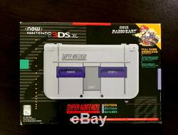 Nouveau Nintendo 3ds XL Super Nintendo Snes Marque Nouveau! Comprend Super Mario Kart