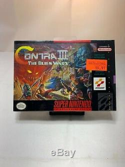 Nouveau Super Nintendo Sealed Contra 3 The Alien Wars Jeu Snes