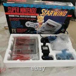 Nr Mint Super Nintendo, Snes, Console Boxed. Bundle Starwing