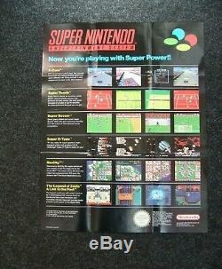 Original Snes Super Nintendo Boxed Avec Mario Panier Et 12 Jeux Boxed