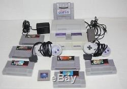 Original Super Nintendo Snes Console Lot 7 Jeux Zelda Mario Street Fighter Plus