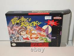 Pocky & Rocky (super Nintendo) Box Rare (seulement)! Snes De Nice