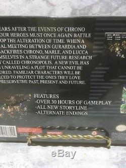 Rare Chrono Trigger Crimson Echoes Super Nintendo Snes Homebrew Scellé (c5)