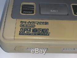 Rare Coréenne Exclusive Comboy Super Nintendo Snes Système Console Hyundai Hgm-3000