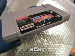 Rare Guy Final Fight Authentique Véritable Snes Super Nintendo Excellent Blockbuster