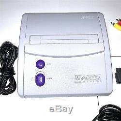 Rare Original Snes Super Nintendo Console Bundle Mini Système Oem Clean