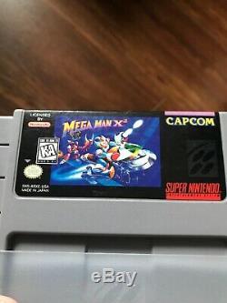 Rare Snes Super Nintendo Jeu Lot Mega Man X2 7 Sunset Riders Testés Authentique