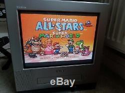 Rare Super Mario All-stars + Super Mario World Snes Super Nintendo Console Boxed