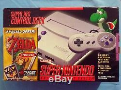 Rare! Super Nintendo Snes Mini Jr Game System Console Zelda Cible Exclusive