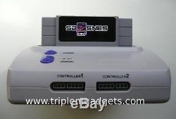 Retro Super Nintendo / Snes Console De Lire Les Super Nes Cartouches