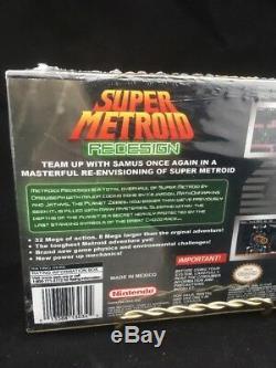 Scellé! Super Metroid Redesign Jeu Super Nintendo Rare Ships Free