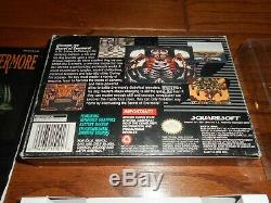 Secret Of Evermore Complete In Box Jeu Authentique De Rpg Super Nintendo Snes Cib