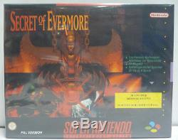 Secret Of Evermore Snes Super Nintendo Guide Grand Box Avec Guide Rare