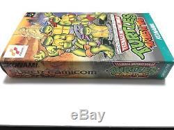 Sfc Turtles Dans Le Temps Tmnt Super Famicom Testé & Travail Nintendo Snes