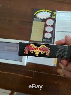 Shadowrun Cib Super Nintendo Snes Boîte Manuelle Cyberpunk Rpg Rare! Bonne Condition