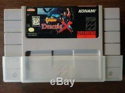 Snes Castlevania Dracula X Super Nintendo Entertainment System 1995 Panier Seulement