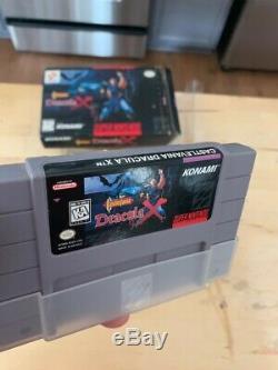 Snes Castlevania X Complète Cib Rare Super Nintendo Protector Inserts Manille