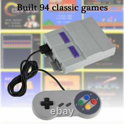 Snes Classic 94 Jeux Super Handheld Game Mini Tv 16 Bit Pour Console Nintendo