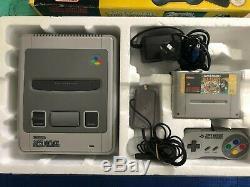 Snes Console Super Mario All-stars Boxed Super Nintendo Rare Aus Pal