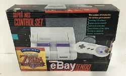 Snes Console Super Nintendo Nes Box Box Box Complete Legend Of Zelda Cib