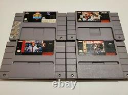 Snes Jeu Vidéo Lot De (22) Super Nintendo Entertainment Jeux Sport
