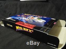 Snes Mega Man X2 Cib Authentique Panier, Insertion, Plateau, Hq Personnalisé Manuel Et Boîte Complet