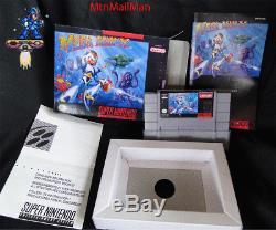 Snes Megaman X Super Nintendo Cib Authentiques Panier, Manuel, Poussière, Boîte Personnalisée