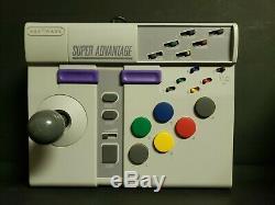 Snes Nintendo Asciiware Super Advantage Turbo Controller Arcade Boxed Box