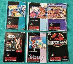 Snes Super De La Console Avec Le Contrôleur, Souris, Super Gameboy + 8 Jeux Bundle