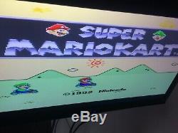 Snes Super Nintendo Console Bundle Avec 17 Jeux (entièrement Testé)