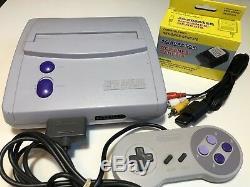 Snes Super Nintendo Jr Rare Console Système Original Teste De Travail Sns-101