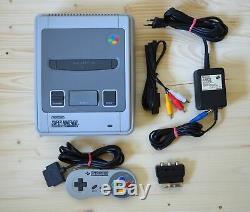 Snes Super Nintendo Konsole Avec Contrôleur Original En Ovp