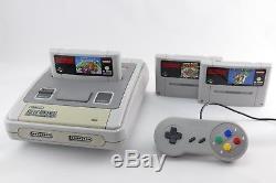 Snes / Super Nintendo Konsole + Mario Spiel, 2 Contrôleurs Et Alle Kabel