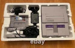 Snes Super Nintendo System Console Super Mario World Set Complet Dans La Boîte