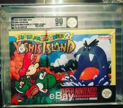 Snes Super Nintendo Yoshi Island 2 Scellé En Usine Bande Rouge Vga 90
