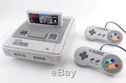 Snes / Super Nintendo (top Zustand) + Mario Kart, 2 Contrôleurs Original Et Kabel