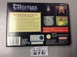 Snes Terranigma Pour La Console Super Nintendo Jeux Pal Version