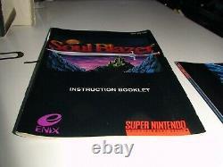 Soul Blazer Super Nintendo Snes Complet + Affiche! Cib Rpg