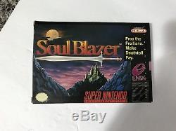 Soul Blazer (super Nintendo, Snes) Complet Dans Box, Cib