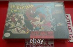 Spider-man Et Les X-men Dans Arcade's Revenge Super Nintendo Authentic Snes Seal