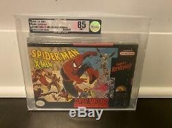 Spiderman Xmen Revanche Jeux Super Nintendo Snes Sealed Nib Vga Graded 85
