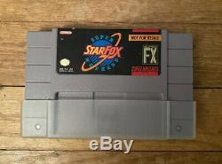 Starfox Super Week-end Concurrence Cartouche Super Nintendo Snes Revente