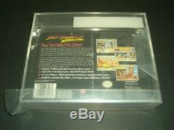 Street Fighter 2 II Turbo Neuf Et Scellé En Usine Vga 80 Snes Super Nintendo