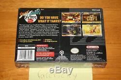 Street Fighter Alpha 2 (super Nintendo Snes) Nouveau Etanche V-seam Super Rare
