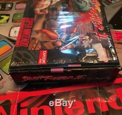 Street Fighter II Snes Super Nintendo Complète Cib, A Été Testée Et Travail! Menthe
