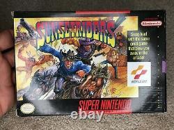 Sunset Riders (super Nintendo Snes) Cib Complet Avec Poster Collector