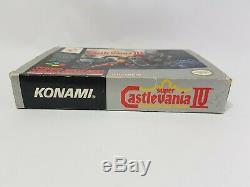 Super Castlevania IV 4 Super Nintendo Snes Jeu Pal Uk Complet